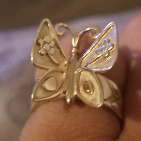 James Avery Jewelry Retired 14k Gold Mariposa Ring Poshmark